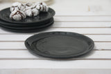 Ceramic cake plate in black