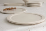 Elli dinnerware- Ceramic large size plate in white