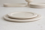 Elli dinnerware set- Ceramic plate set in white