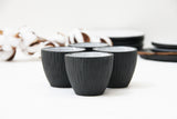 Lili - Hand-carved ceramic espresso cup with saucer