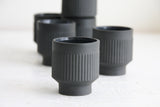 Modern ceramic espresso cup in black