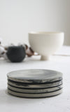 Sophie- Ceramic cake plate in black and white marble