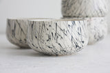 Bella- Ceramic white and black lines pattern