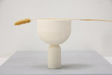 Mia- a set of white modern ceramic planter