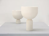 Mia-  Modern ceramic planter in white- Tall