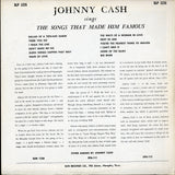 Johnny Cash / Sings The Songs That Made Him Famous