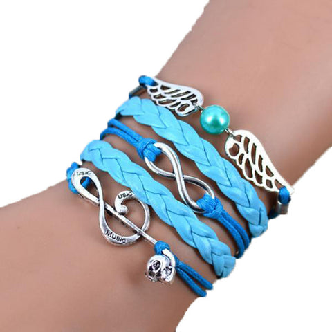 Angel Infinity Music Notes Bracelet