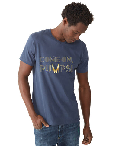 Gold Come On Pumps! — Mens Short Sleeve Tee
