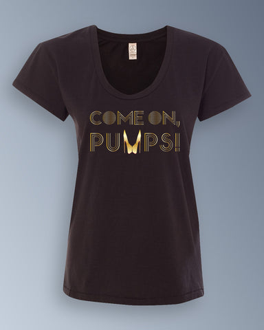 Gold Come On, Pumps! — Alternative Apparel Ladies Satin Jersey Roadtrip Tee
