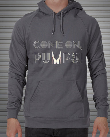 Silver Come On, Pumps! — American Apparel Unisex Pullover Hoodie
