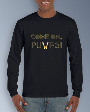 Gold Come On, Pumps! Mens Ultra Cotton Long Sleeve Tee
