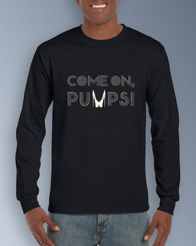 Silver Come On, Pumps! Mens Ultra Cotton Long Sleeve Tee
