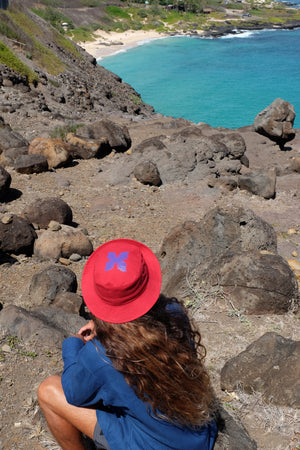 Hat - Lauaʻe Bucket Hat - Red