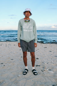 Sweatshirt Raglan - Swim Club - Silversword Sage