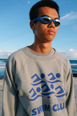 Sweatshirt Raglan - Swim Club - Heather Grey