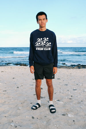 Sweatshirt Raglan - Swim Club - Navy