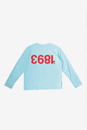 OVERSIZED LONG SLEEVE T-SHIRT - 1893 - SKY BLUE