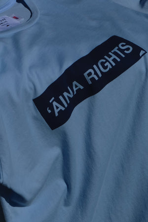 LONG SLEEVE T-SHIRT - ʻĀINA RIGHTS - SKY BLUE