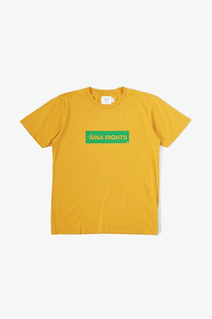 T-Shirt - 'Āina Rights - Mustard