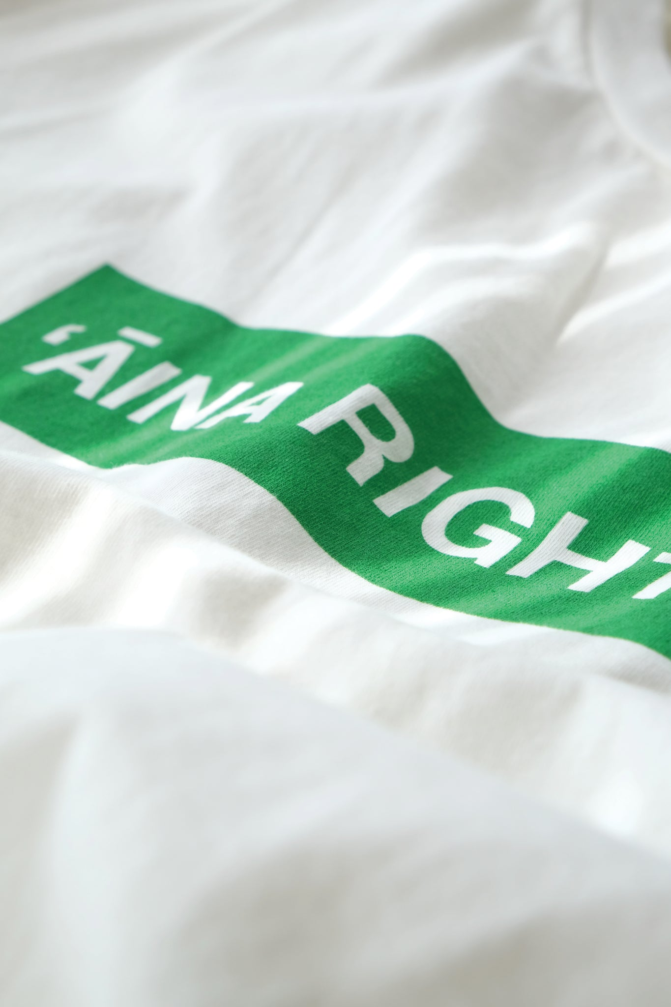 T-Shirt - 'Āina Rights - Natural