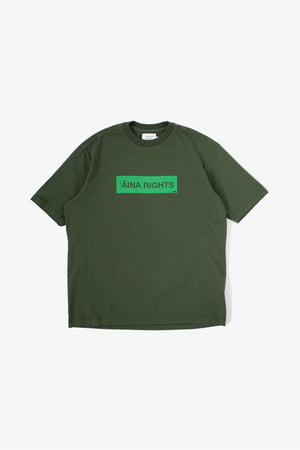 Oversized T-Shirt - 'Āina Rights - Olive Green