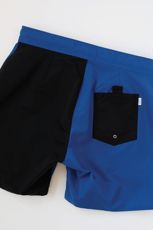 Shorts - Koko Boardshort, Quad - Black & Royal Blue