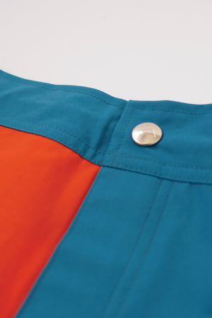 Shorts - Koko Boardshort, Quad - Orange & Teal