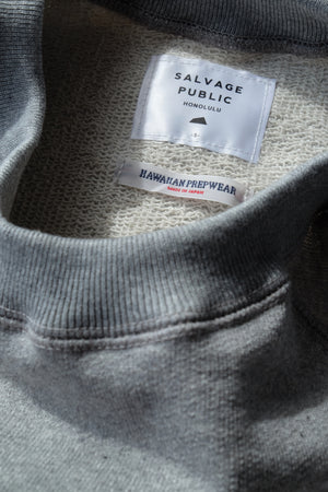 Hawaiian Prepwear Chenille Sweatshirt - Heather Grey