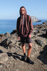 Beach Hoodie - Brand Stamp - Brown