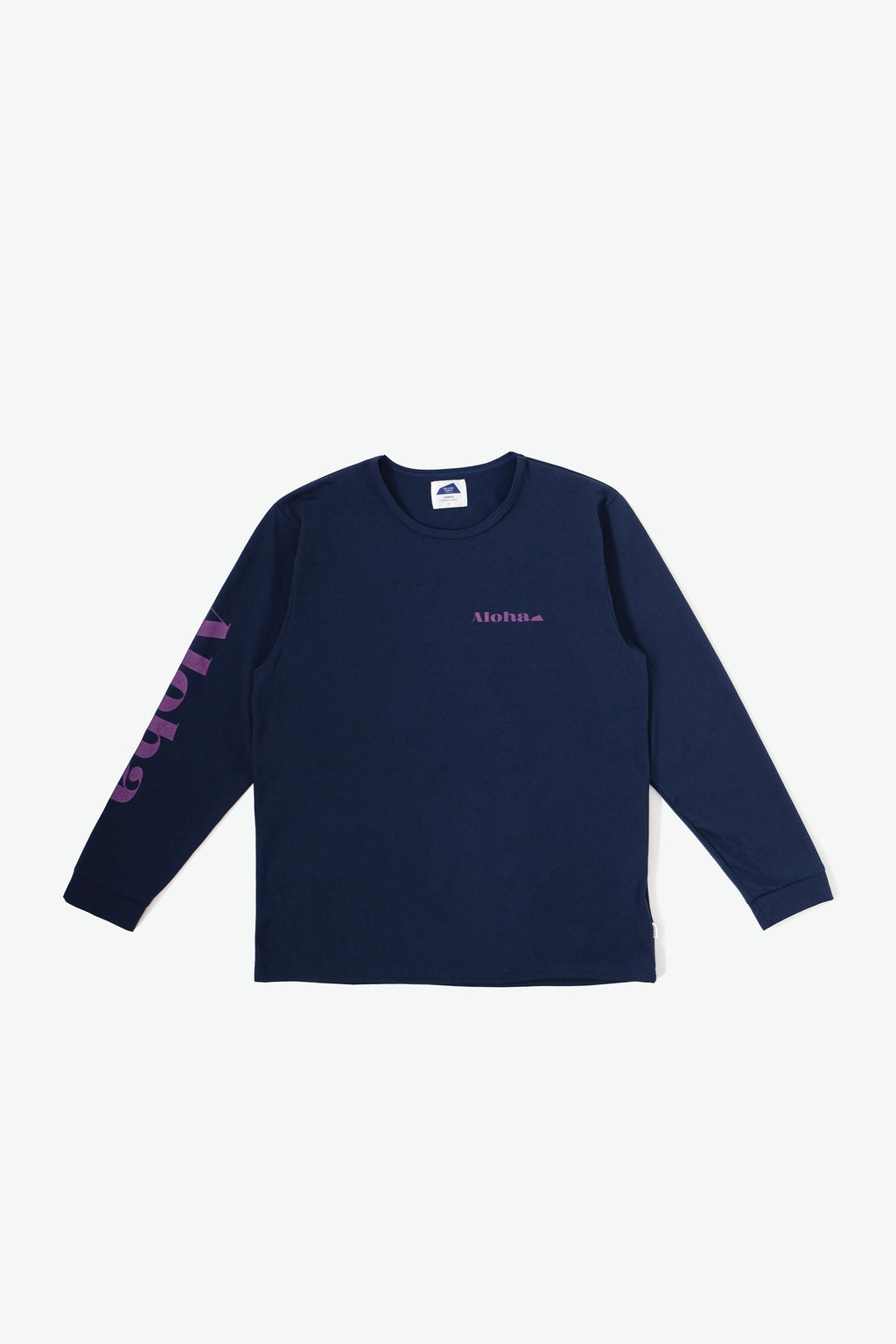 Long Sleeve Surf T-Shirt - Aloha - Navy