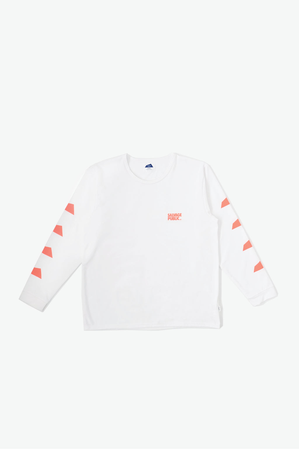 Long Sleeve Surf T-Shirt - Brand Stamp - White