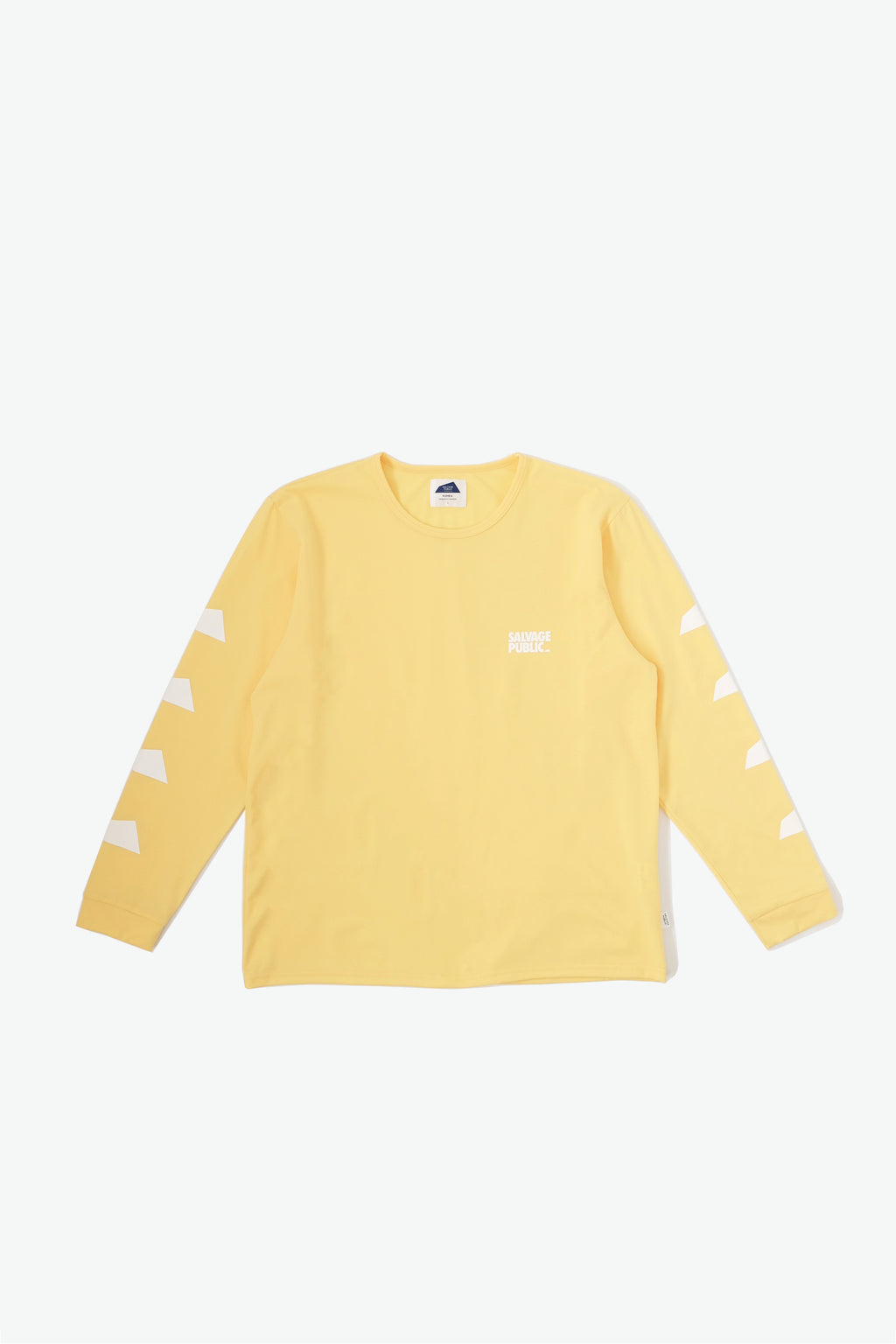 Long Sleeve Surf T-Shirt - Brand Stamp - Yellow