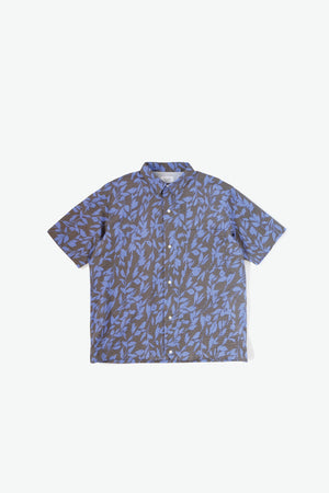Makani Woven Shirt - Maile - Charcoal Grey