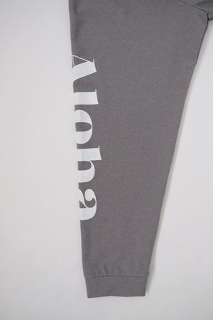 Long Sleeve Surf T-Shirt - Aloha - Heather Grey