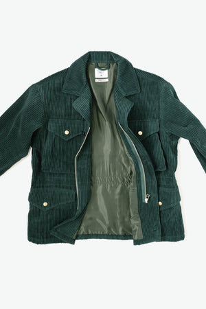 Jacket - Military Corduroy - Emerald Green