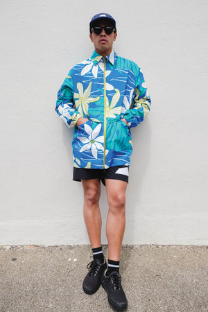 Jacket - Hawaiian Mid Trench - Royal