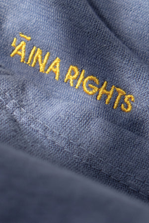 T-Shirt - Hemp 'Āina Rights - Stone Blue
