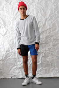 Long Sleeve T-Shirt - Loop Terry - White