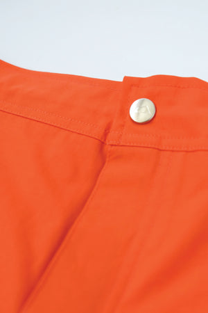 Shorts - Koko Boardshort, Contrast Logo - Orange