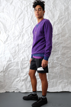 Sweatshirt - Open Logo Fleece - Purple