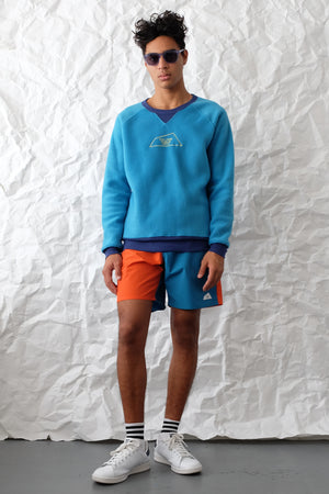 Sweatshirt - Open Logo Fleece - Turquoise