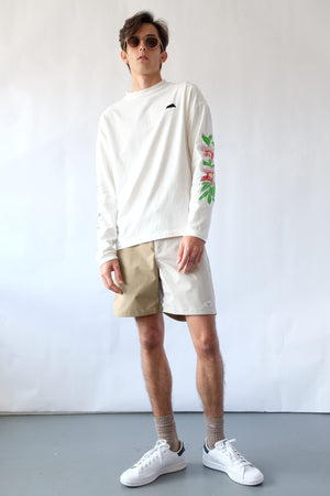Long Sleeve T-Shirt - Orchids - White