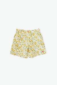 Cromwell Short - Plumeria Scatter - Yellow