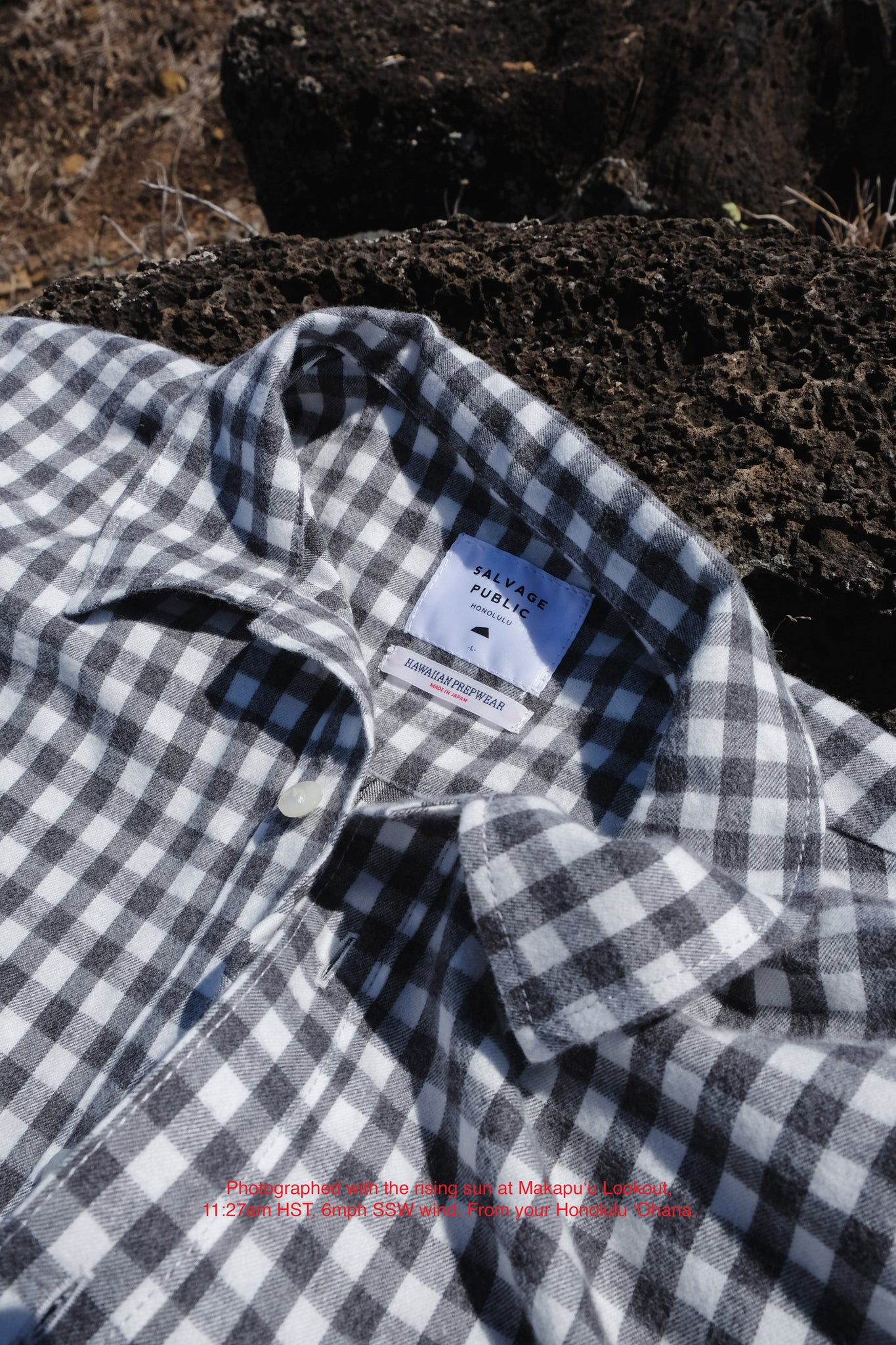 Hawaiian Prepwear Woven Shirt - Checker - Grey