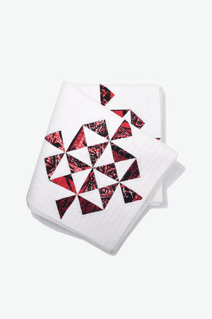 Quilt - Kapa Pinwheel - Red & White