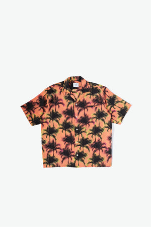 Duke Woven Shirt - Digital Palm - Orange