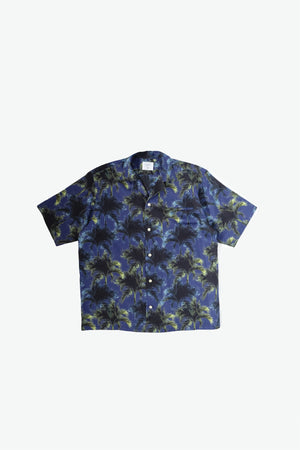 Duke Woven Shirt - Digital Palm - Navy