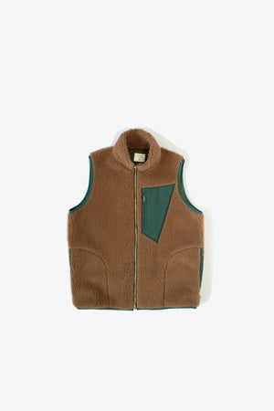 Jacket - Upcountry Sherpa Vest - Brown