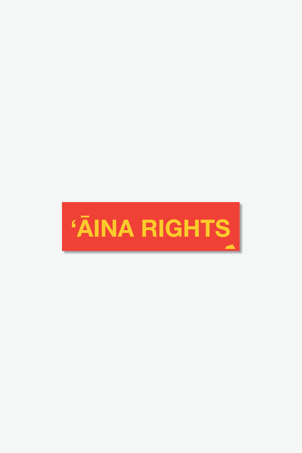 Sticker - ʻĀina Rights - Red
