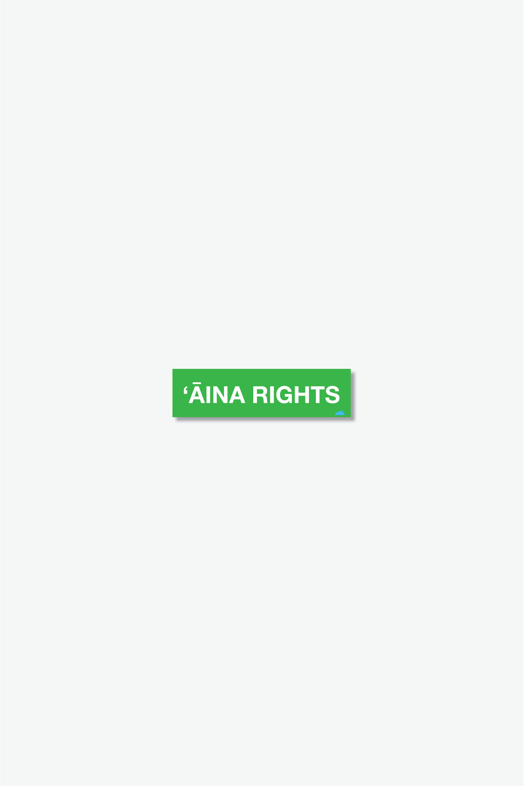 Mini Sticker - ʻĀina Rights - Green/White